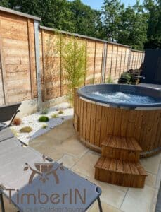 6 – 8 person outdoor hot tub with external heater 3