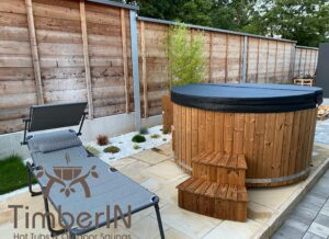 6 – 8 person outdoor hot tub with external heater 4