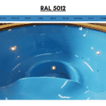 Blue RAL 5012 for wooden hot tub
