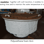 Bottom insulation for wooden hot tub 1