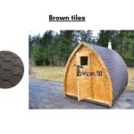 Brown tiles for outdoor sauna