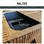 Dark Grey RAL 7011 for square rectangular hot tub