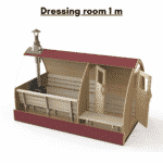 Dressing room 1 m for outdoor sauna