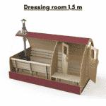 Dressing room 15 m for outdoor sauna
