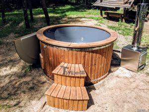 Fiberglass outdoor hot tub with external heater 11