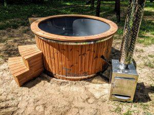 Fiberglass outdoor hot tub with external heater 12