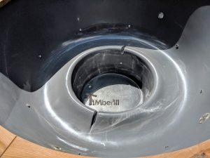 Fiberglass outdoor hot tub with external heater 16