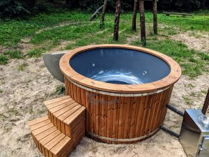 Fiberglass outdoor hot tub with external heater 19