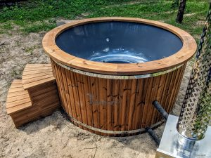 Fiberglass outdoor hot tub with external heater 24
