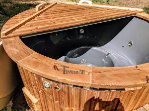 Fiberglass outdoor hot tub with external heater 5