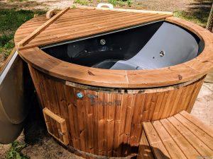 Fiberglass outdoor hot tub with external heater 9