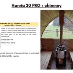 Harvia 20 PRO chimney for outdoor sauna