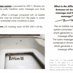 Hydro massage system for square rectangular hot tub