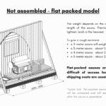 Not assembled – flat packed model outdoor sauna