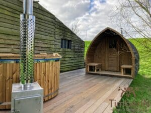 Outdoor home sauna pod 2 2