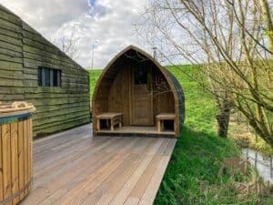 Outdoor home sauna pod 3 2