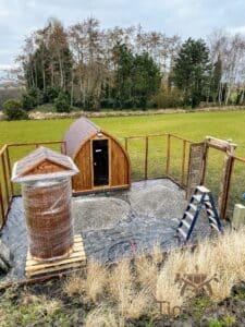 Outdoor home sauna pod 4
