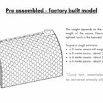 Pre assembled – factory built model outdoor sauna
