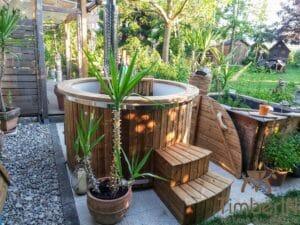 Round wood powered hot tub 2 1