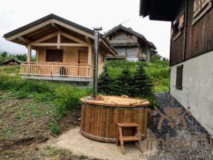 Round wood powered hot tub 3