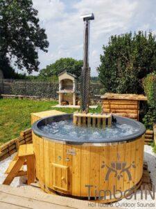 Round wood powered hot tub 5
