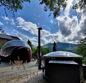 SMART Pellet or Wood Fired Burning hot tub WPC Thermowood 3