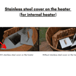Stainless steel lid on the heater for square rectangular hot tub