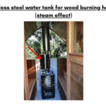 Stainless steel water tank for wood burning heaters steam effect for outdoor sauna