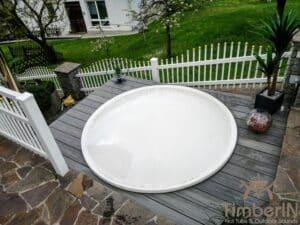 Sunken in ground hot tub 2 1