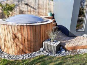Sunken in ground hot tub 2