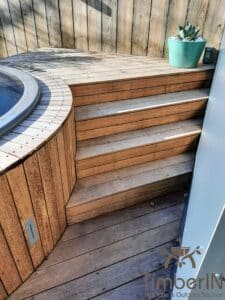 Sunken in ground hot tub 3