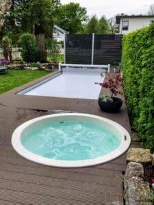 Sunken in ground hot tub 4 2