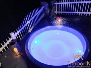 Sunken in ground hot tub 5 1