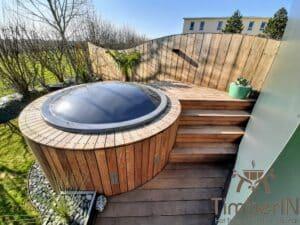 Sunken in ground hot tub 5