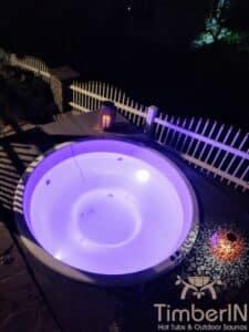 Sunken in ground hot tub 6 1
