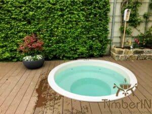 Sunken in ground hot tub 6 2