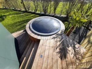 Sunken in ground hot tub 6