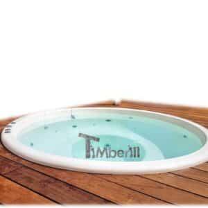 Sunken in ground hot tub
