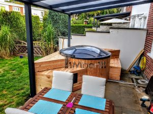 Sunken terrace fiberglass Jacuzzi 2