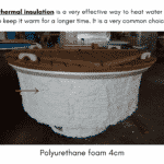 Wall insulation for wooden hot tub