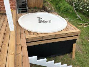 Wellness hot tub with external wood fired burner 6