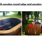 With wooden round edge and wooden lid