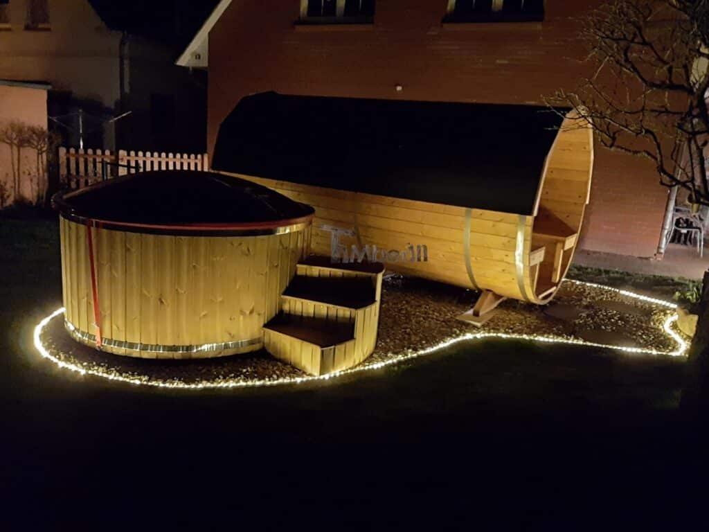 Wood burning fiberglass hot tub with jets Wellness Royal 1 1 scaled scaled