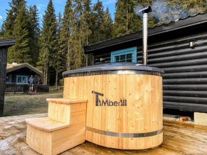 Wooden fiberglass ofuro hot tub for two 1 scaled