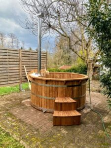 Barrel Wooden Hot Tub Deluxe thermowood 1