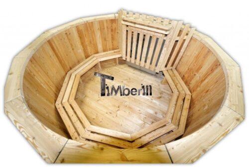 Wood fueled hot tub