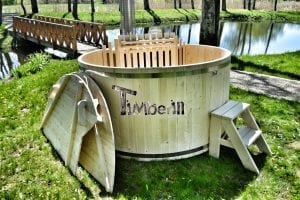 Wooden hot tub basic model made of siberian spruce larch 11