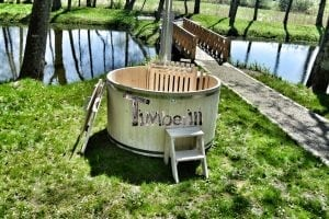 Wooden hot tub basic model made of siberian spruce larch 14