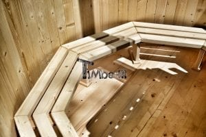 Wooden hot tub basic model made of siberian spruce larch 17
