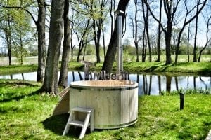 Wooden hot tub basic model made of siberian spruce larch 5
